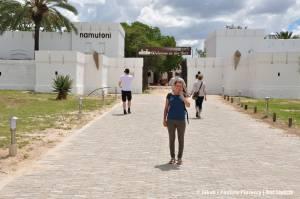 Paulina przy forcie Namutoni