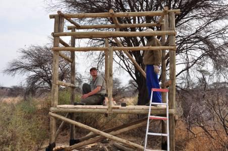 Budowanie ambon – moje główne zadanie podczas pierwszego pobytu w Namibii
