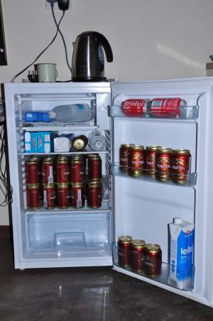 A po pracy... lodówka pełna napoju chłodzącego