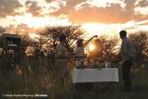Zachód słońca w bush campie